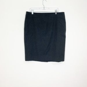 LOFT Dark Gray Pencil Career Skirt Size 18